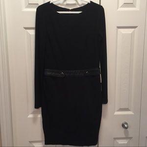 Lauren by Ralph Lauren Black Sheath Casual Dress